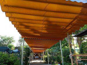 Thiết Kế Mái Hiên Che Quán Cafe Sân Vườn, Báo Giá Mái Che Cà Phê