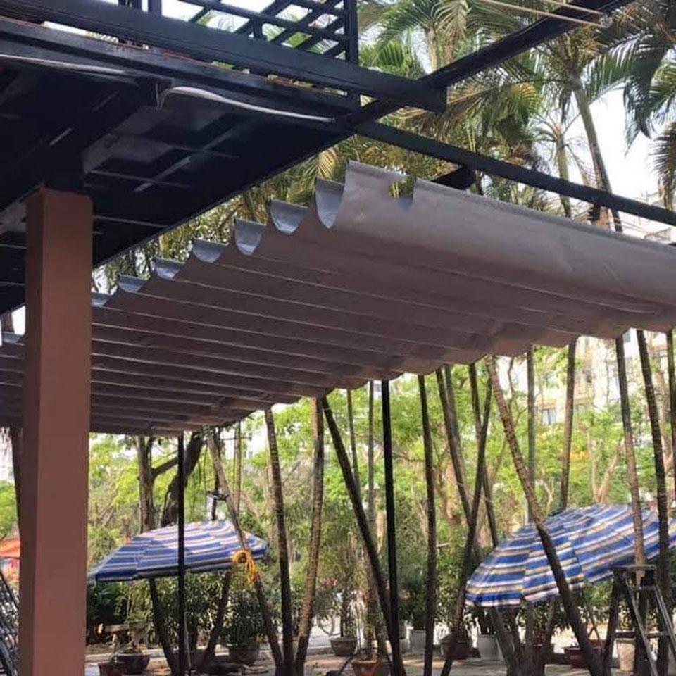 Lắp đặt mái xếp quán cafe Đồng Nai