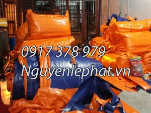 Bạt Che Phủ Công Trình Quận 7 TPHCM, Cung Cấp Bạt Xanh Cam Che Hàng Hóa